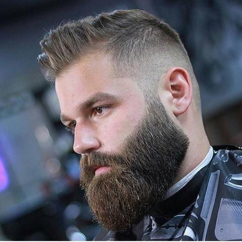 Square Beard Style is bold look.