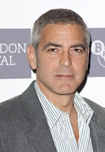 George Clooney sporting the longer buzz cut look