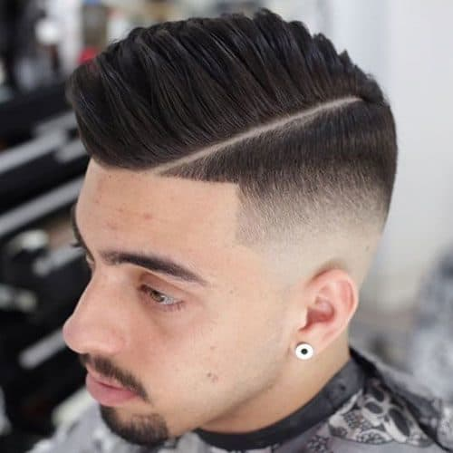 Fade with part hairstyle
