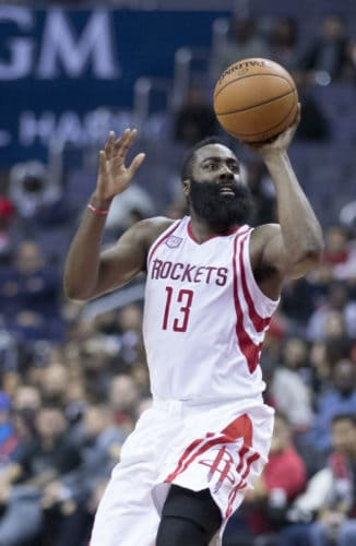 James Harden long beard style