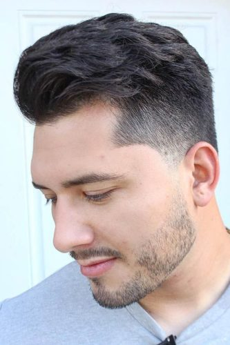 Short Patchy Beard with Fade