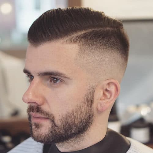 Comb Over High Fade Hair Style