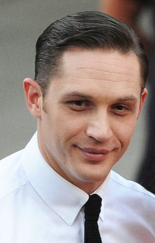 Tom Hardy Comb Over with a clean-shaven face.