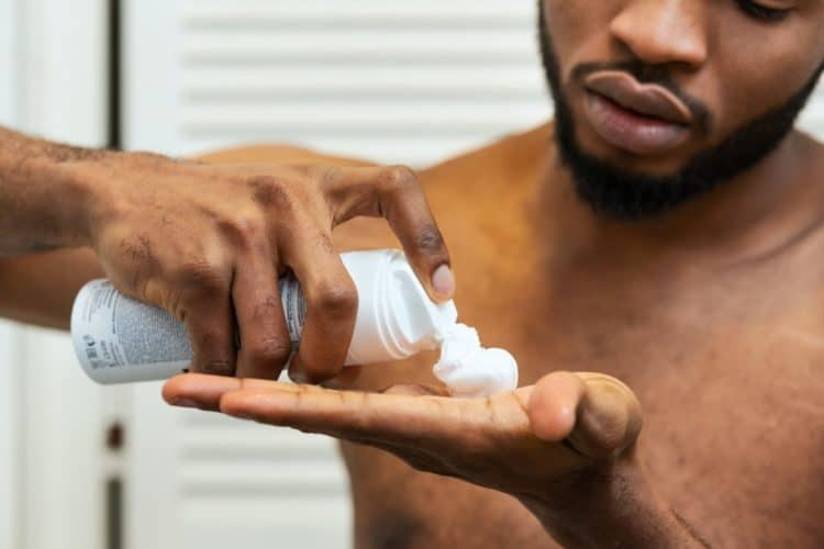 Use a quality shaving foam or gel to avoid pimples.