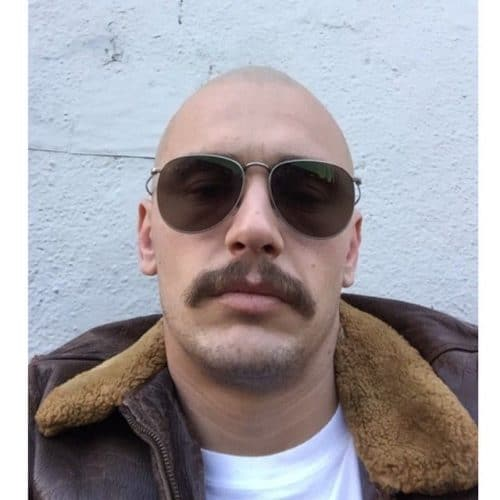 Bald Chevron Mustache