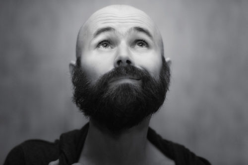Bushy Beard Length with Bald Head