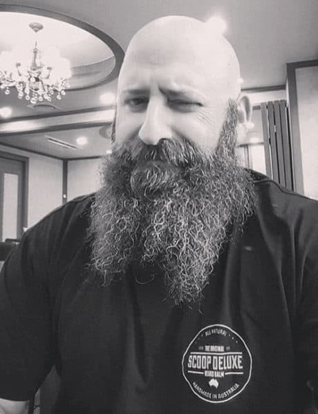 Bald with French Fork Beard