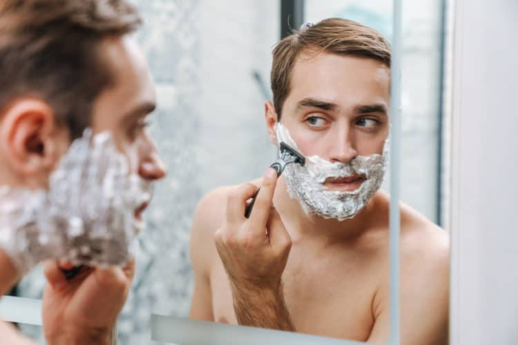 Shaving with a blade razor