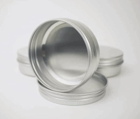 Create your own beard balm and store in screw-top metal tins.