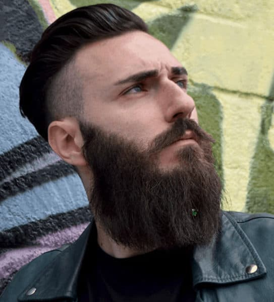 Beard crystal jewelry for a stylish look.