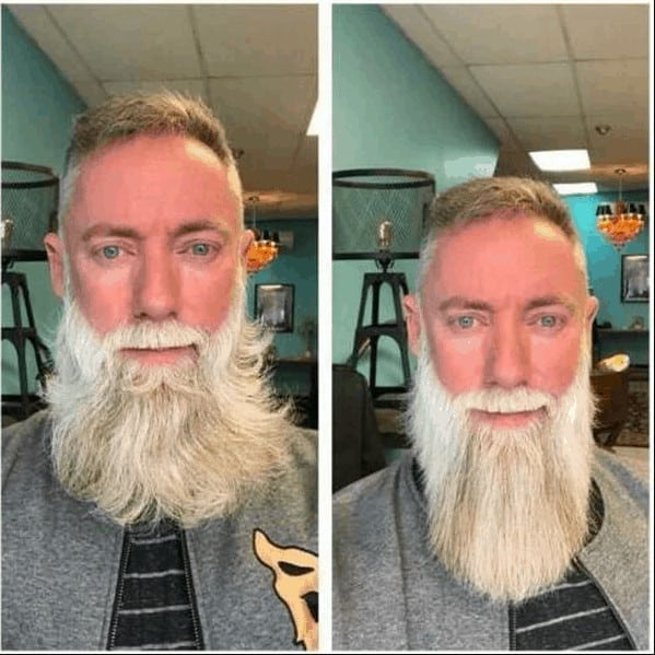 Before After Straightening Beard