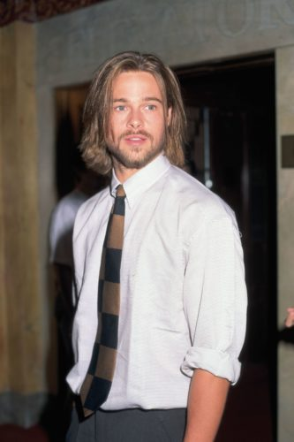 Brad Pitt long hair medium length beard