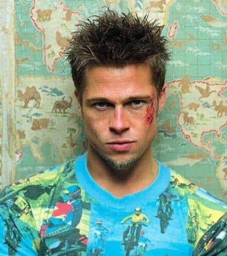 brad pitt fight club hair