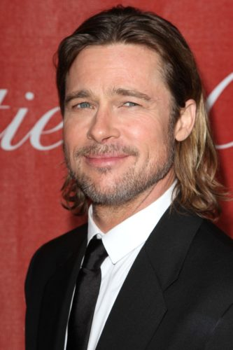 Brad Pitt Longer Stubble Beard