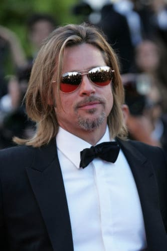 Brad Pitt Van Dyke Beard that's close to a circle goatee