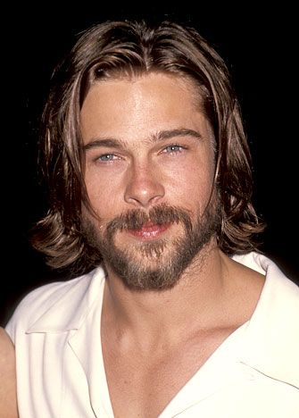 Brad Pitt Longer Scruff Beard