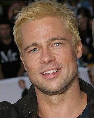 Blonde Brad Pitt Short Hair