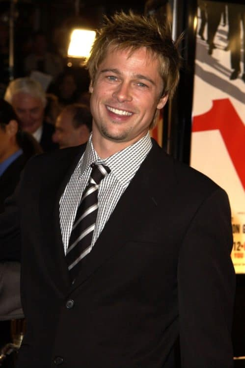 Brad Pitt barely there beard