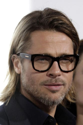 Hot Brad Pitt Beard with glasses look