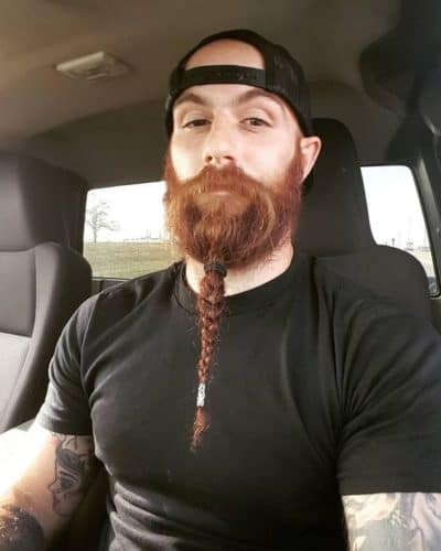 Long beard with one braid.