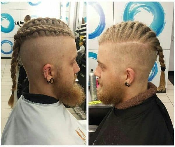 Viking hairstyles with long braids,