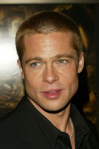 brad pitt buzzed hair