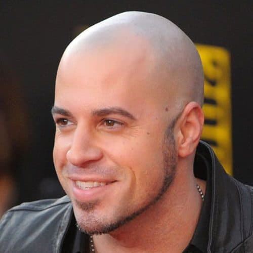Chris Daughtry with a thin chin strap beard and stubble style mustache.