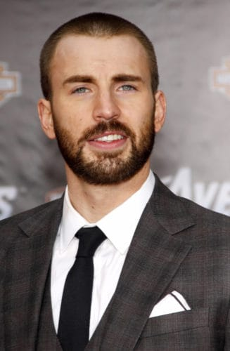 Chris Evans buzz crew cut