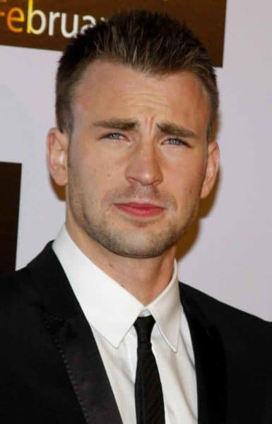 Chris Evans with a classic crew cut hairstyle
