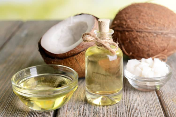 coconut oil helps moisturize bald and shaved heads.