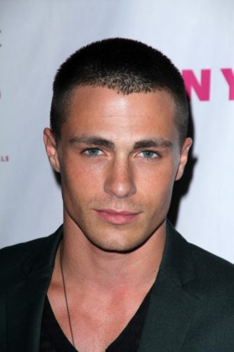 Colton Haynes military crew cut