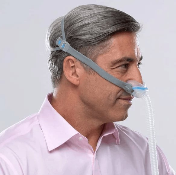 CPAP nasal mask for those with a beard.