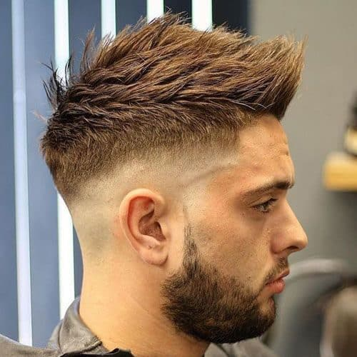 Faux Hawk Fade with Comb Over