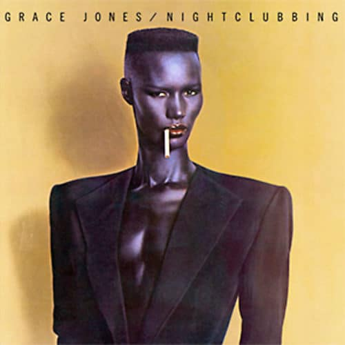 Grace Jones with the early fade haircut trend
