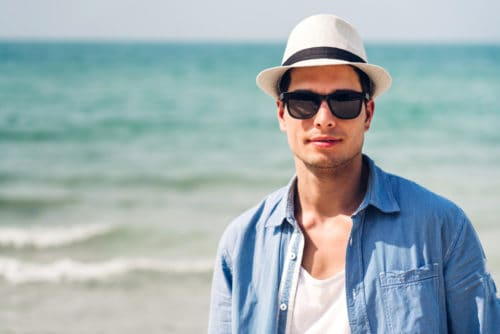 Wear a Hat to protect from getting a sunburned scalp.