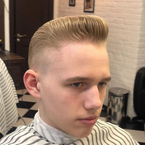 The Pompadour haircut is great at concealing a high hairline.