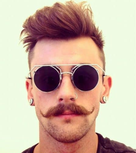 Classic Hipster Mustache Style