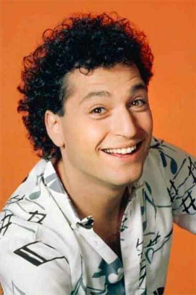 Comedian Howie Mandel with a full head of Curly Hair
