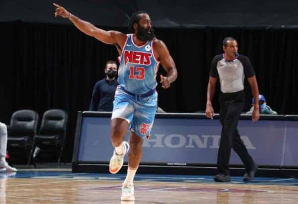 James Harden dominating in his 2021 debut with the Nets.