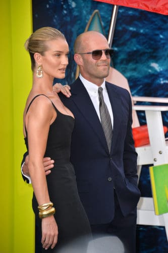 Jason Statham is all confidence with the best shaved head and stubble beard.