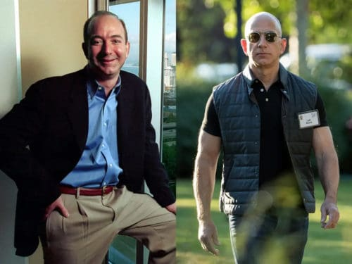 Jeff Bezos before and after bald