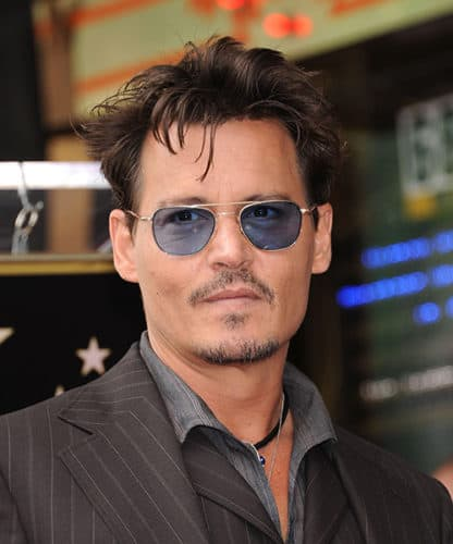 Johnny Depp Scruffy Goatee Look