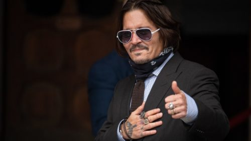 Johnny Depp's current hair is longer and relaxed.