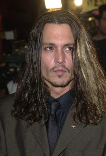 Johnny Depp extremely long hair