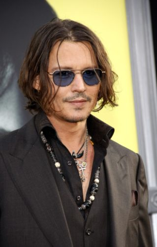 Johnny Depp stubble beard