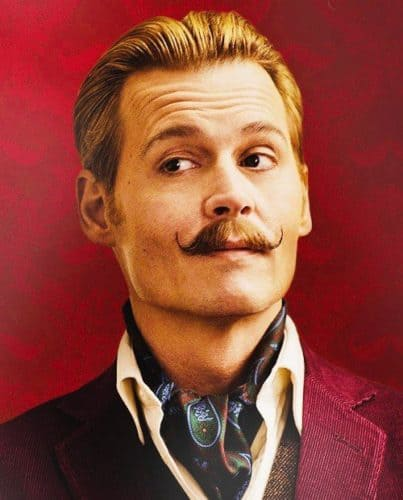 "Johnny Depp Handlebar Mustache in  ""Mortdecai"" is a classic for the actor."