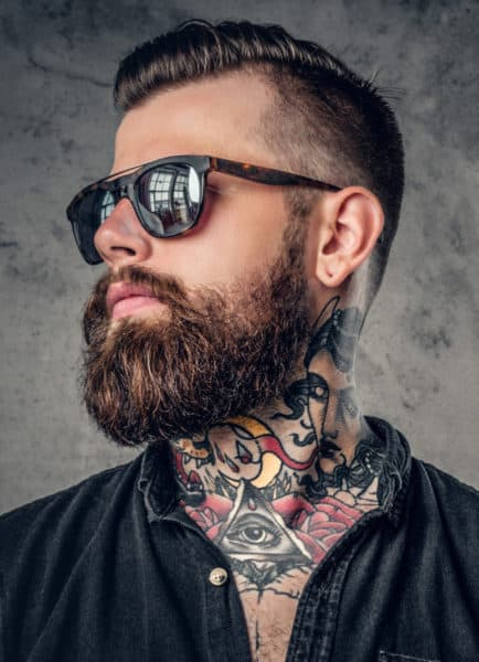 A Longer style beard breaks the chin strap mold a bit, but is a great variation.