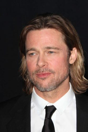 Brad Pitt Short Beard Look