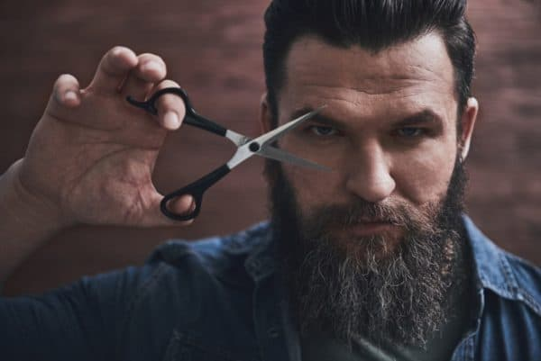 scraggly beards can be fixed by trimming long damaged hairs