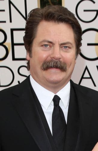 Nick Offerman thick and bushy walrus mustache
